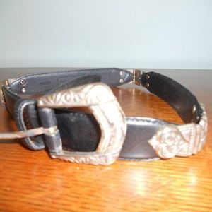 Fossil Belt with silver